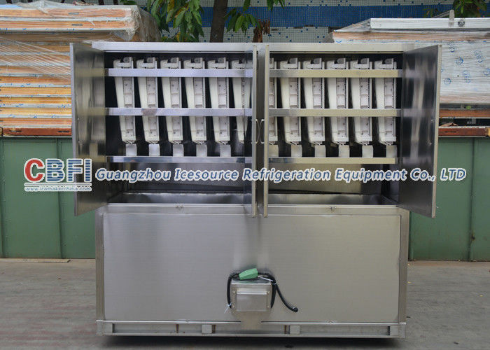 Full Automatically Ice Cube Machine For Fast Food Shops / Supermarkets