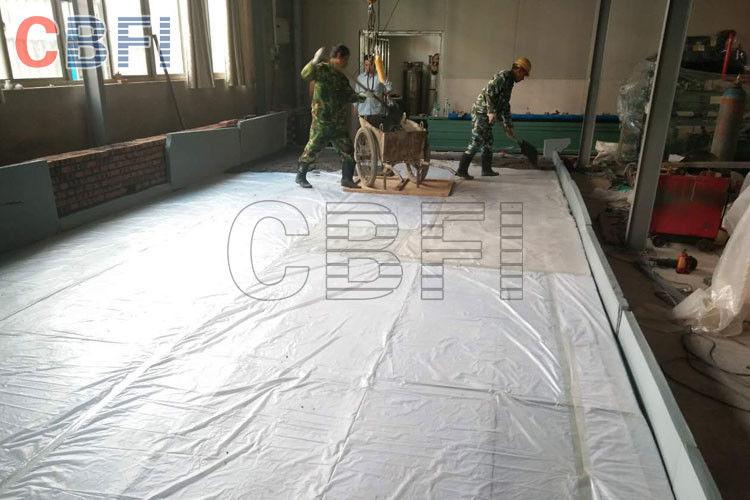 10 Tonnen Block-Eis-Maschinen-Regal-Salzlösungs-Behälter-Kran-System ...